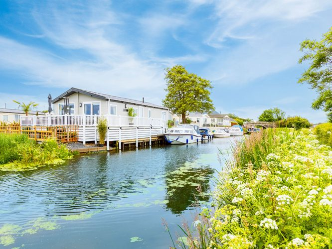 Canalside homes at the Smithy