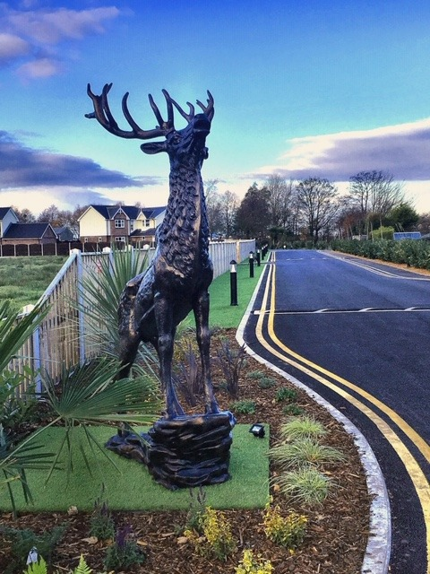 Glenfield New Entrance Statue Stag