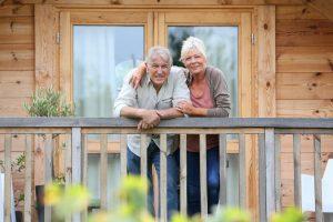 uk leisure parks couple on veranda